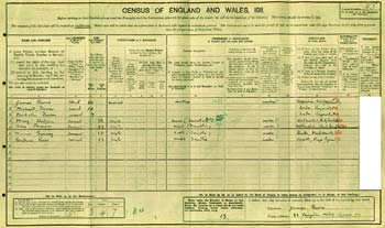 J.M.Barrie in 1911 Census