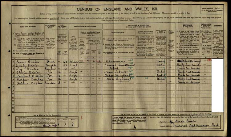 Buckinghamshire 1911 Census